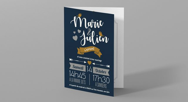 Faire part « Marie & Julien »